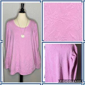 Sweaters - Imprinted Flower Design Shoulder Sweatshirt NWT 2X